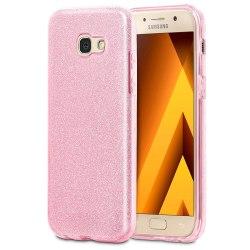 Glitter fodral för Samsung Galaxy A3 (2017) Skinande Silikon Str Rosa