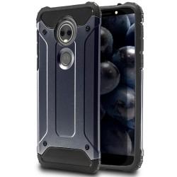 Hårt Mobil Skal till Motorola Moto E5 Blå Hybrid Blå