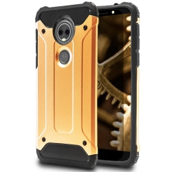 Hårt Mobil Skal till Motorola Moto E5 Plus Guld Hybrid Guld