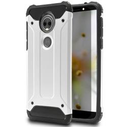 Hårt Mobil Skal till Motorola Moto E5 Plus Vit Hybrid Vit