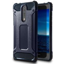 Hårt Mobil Skal till Nokia 8 Blå Hybrid Blå