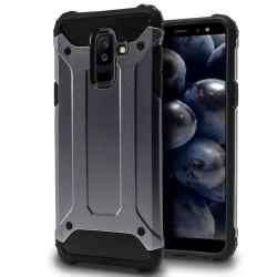 Hårt Mobil Skal till Samsung Galaxy A6+ (2018) Blå Hybrid Blå