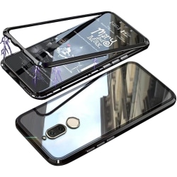 Hårt Skal för Huawei Mate 10 lite Plast Skyddsglas Metall Bok Hä Svart