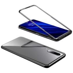 Hårt Skal för Huawei P30 Bok Plast Aluminium Skyddsglas Metall H Svart