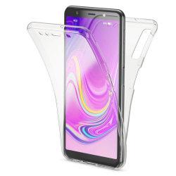 Helskydd Mobil för Samsung Galaxy A50 Genomskinligt Silikon Tele Transparent