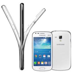 Helskydd Mobil för Samsung Galaxy S Duos Gummi Telefon Stötsäker Transparent