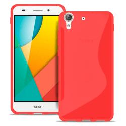 Huawei Y6II Gummi Vanliga färger Ultratunna Stötfångare stötdämp Röd