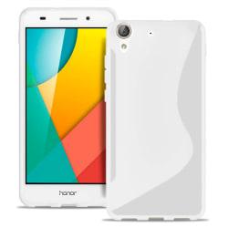 Huawei Y6II Vanliga färger Stötfångare stötdämpande Silikon Ljus Vit