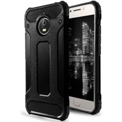 Hybrid Mobil Skal till Motorola Moto E4   Svart   TPU och Plast Svart