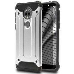 Hybrid Mobil Skal till Motorola Moto E5 Plus | Silver | TPU och  Silver