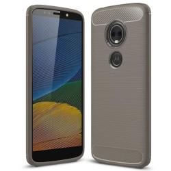 Kolfiber Skal för Motorola Moto E5 Plus Skydd Mobil Telefon Matt grå