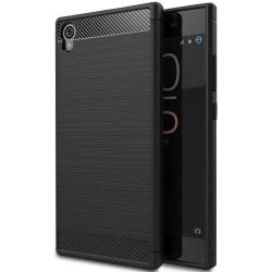 Kolfiber Skal för Sony Xperia L1 Mobilskal Skydd Armor Gummi Tel Svart