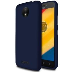 Matt Mjukt Skal för Motorola Moto C Plus Tunnt Stötsäker Mobil S Mörkblå