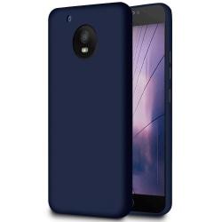 Matt Mjukt Skal för Motorola Moto E4 Plus Lätt Silikon Stötsäker Mörkblå