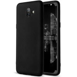 Matt Mjukt Skal för Samsung Galaxy J6+ / J6 Prime Stötsäker Svar Black