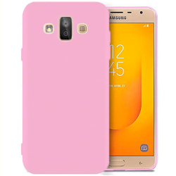 Matt Mjukt Skal för Samsung Galaxy J7 Duo Stötsäker Enfärgat Mob Rosa