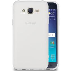 Matt Mjukt Skal för Samsung Galaxy J7 Mobilskal Enfärgat Gummi S Vit