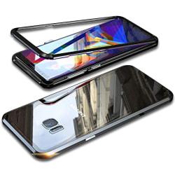 Metall och Glas Skydd för Samsung Galaxy S7 Edge Hård-Plast Armo Svart