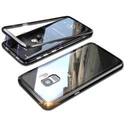 Metall och Glas Skydd för Samsung Galaxy S9+ / S9 Plus Hårt Bok  Svart