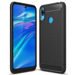 Mjukt Gummi Skal för Huawei Y7 (2019) TPU Mobilskal Mobilskydd S Svart