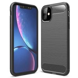 Mjukt Gummi Skal för iPhone 11 Mobilskal TPU Skydd Enfärgat Tele grå