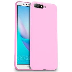 Mjukt Mobil-Skydd för Huawei Y6 (2018) Silikon Stötsäker Rosa Rosa