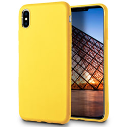 Mjukt Mobil-Skydd för iPhone X / XS Lätt Enfärgat Ultra-Slim Tun Citron gul