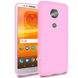 Mjukt Mobil-Skydd för Motorola Moto E5 Silikon Telefon Mobilskal Rosa