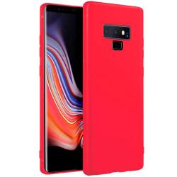 Mjukt Mobil-Skydd för Samsung Galaxy Note 9 TPU Enfärgat Röd Röd