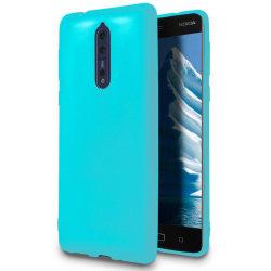 Mjukt Skal till Nokia 8 i TPU Silikon Turkos Turkos