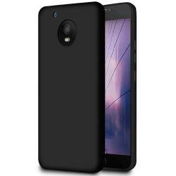 Mjukt Tunnt Mobil-Skydd för Motorola Moto E4 Plus Lätt Stötsäker Svart