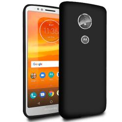 Mjukt Tunnt Mobil-Skydd för Motorola Moto E5 TPU Skal Stötsäker  Svart