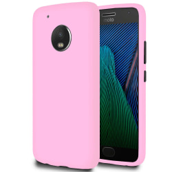 Mjukt Tunnt Mobil-Skydd för Motorola Moto G5 Plus Mobilskal Lätt Rosa