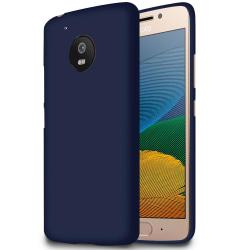 Mjukt Tunnt Mobil-Skydd för Motorola Moto G5 Ultra-Slim Gummi Sk Mörkblå