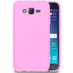 Mjukt Tunnt Mobil-Skydd för Samsung Galaxy J7 Mobilskal Lätt Sil Rosa