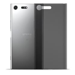 Mjukt Tunnt Mobil-Skydd för Sony Xperia XZ Premium Lätt Stötsäke Mörkgrå