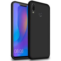 Mjukt Tunnt Mobilskal för Huawei Y7 (2019) Enfärgat Stötsäker Te Svart