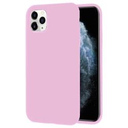 Mjukt Tunnt Mobilskal för iPhone 11 Pro Max Gummi Lätt Telefon S Rosa