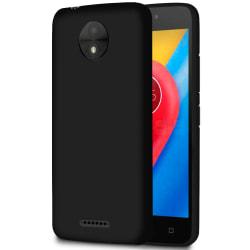 Mjukt Tunnt Mobilskal för Motorola Moto C Gummi Skydd Enfärgat T Svart