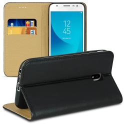 Mobil Fodral för Samsung Galaxy J3 (2017) J330 Magnetlås Microfi Svart