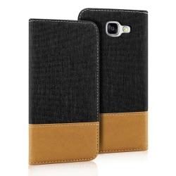 Mobil Skal Plånbok för Samsung Galaxy A5 (2015) Full Cover TPU S Svart
