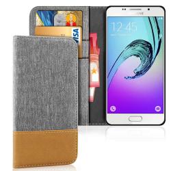 Mobil Skal Plånbok för Samsung Galaxy A5 (2016) Jeans Mobilskal  grå