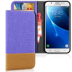 Mobil Skal Plånbok för Samsung Galaxy J5 (2016) Mobilskal TPU Mo Lila