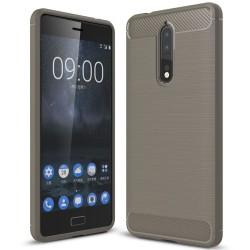 Mobil Skydd Gummi för Nokia 8 Mobilskydd Skal Mobilskal Enfärgat grå