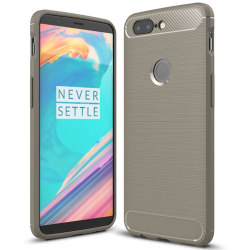 Mobil Skydd Gummi för OnePlus 5t Stötsäker Mobilskydd Mobilskal  grå