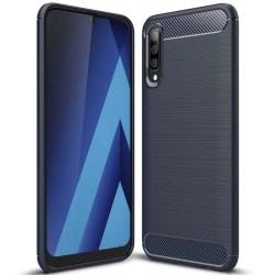 Mobil Skydd Gummi för Samsung Galaxy A50 Mobilskal TPU Stötsäker Mörkblå