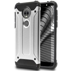 Mobil Skydd till Motorola Moto E5   Hårt Hybrid Skal i Silver Silver