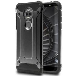 Mobil Skydd till Motorola Moto E5 Plus | Hårt Hybrid Skal i Grå grå