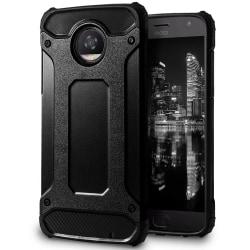Mobil Skydd till Motorola Moto Z2 Play | Hårt Hybrid Skal i Svar Svart