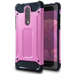Mobil Skydd till Nokia 8 | Hårt Hybrid Skal i Rosa Rosa